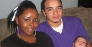Zak and Kianna, pictured after their son's birth in 2010.