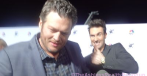 Blake doing a serious interview last year, while Adam did this...