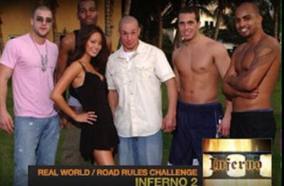 Dave (center) with cast members of 'Inferno II' in 2005.